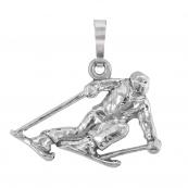 Sportmotiv Carving Ski in Silber 925